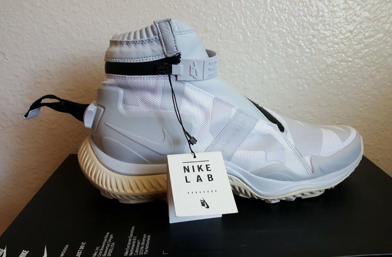 Nike nikelab puro gyakusou gaiter stivale di puro nikelab platino luce uomini grigi 'sz 9 aa0530-100 afb7fd