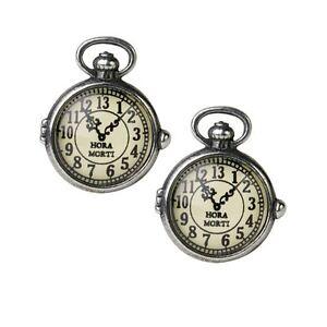 Alchemy-Gothic-Victorian-Steampunk-Clock-Uncle-Albert-039-s-Pewter-Cufflinks-Pair