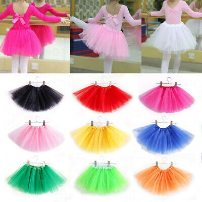 2-8 Y Toddler Kids Girls Tutu SkirtS Tulle Dance Ballet Dress Up Costume Party