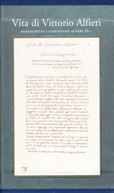 Vita di Vittorio Alfieri. Manoscritto laurenziano Alfieri 24 - [Polistampa]