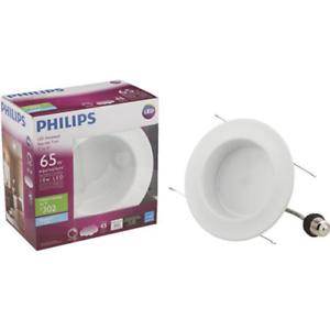 Philips 65 Watt Equivalent 5 6 In 5000k Led Dimmable Downlight Daylight 760585506020 Ebay