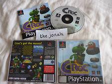 Croc Legend of the Gobbos PS1 (COMPLETE) black label platform Sony PlayStation