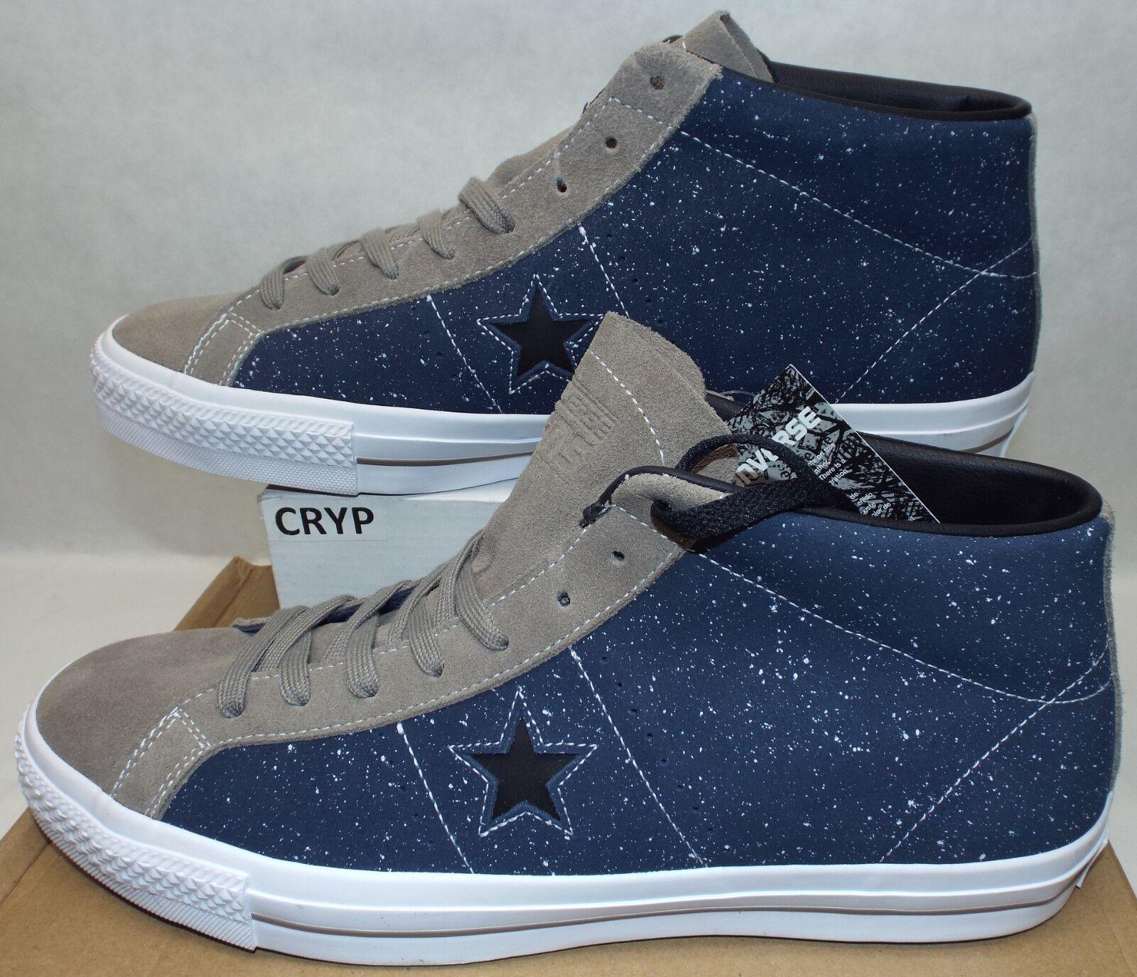 New Mens 13 Converse Converse Converse One Star Pro Mid Obsidian Malt Leather schuhe  75 155521C f66dfe