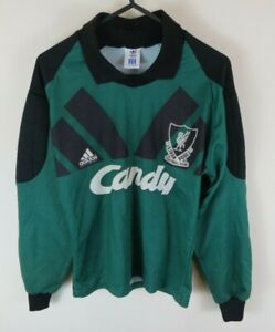 Vtg Adidas Liverpool Football Shirt CANDY Goalkeeper Jersey Retro Kids 30/32 XS