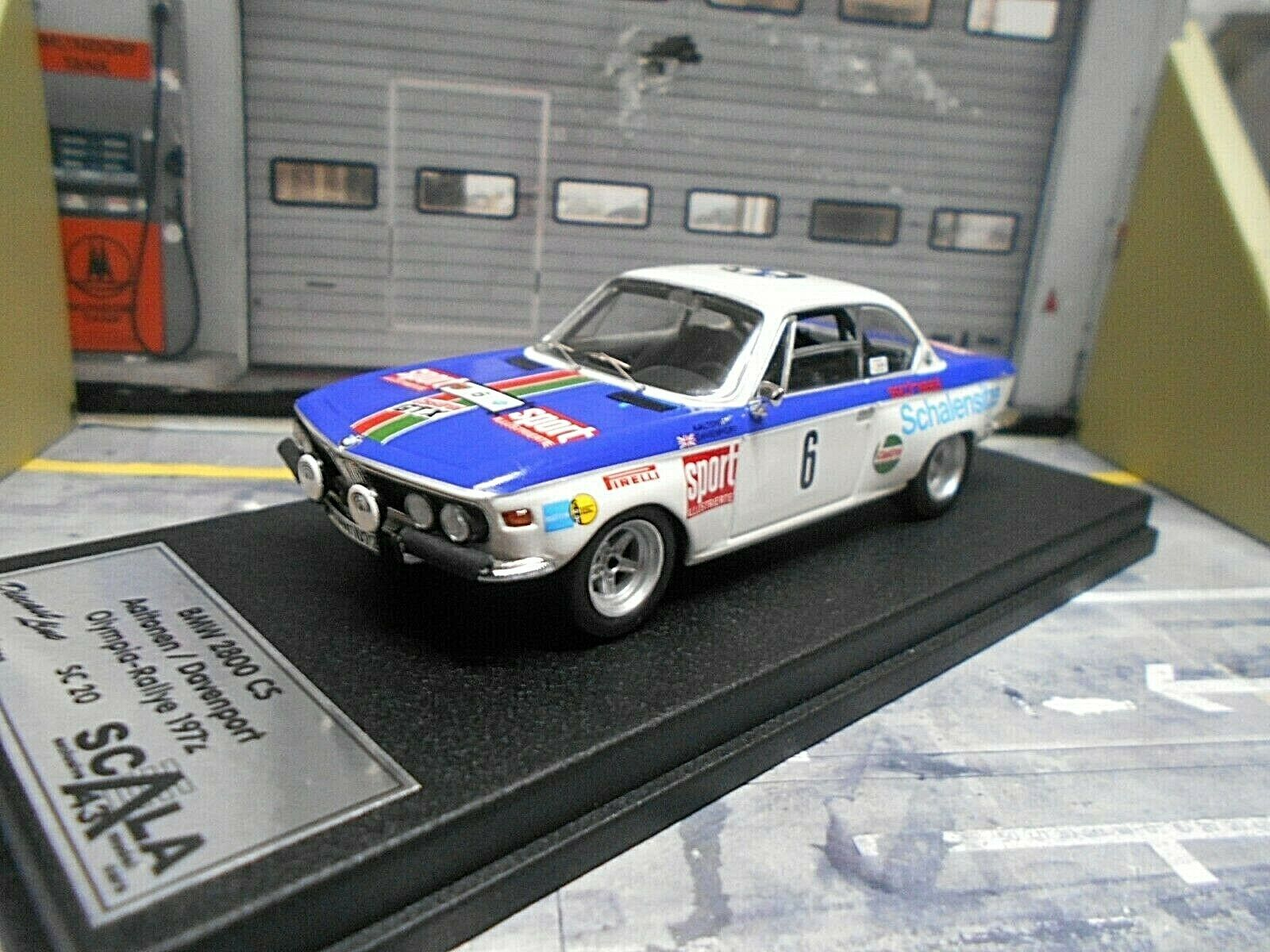 Bmw 2800 CS coupé rally Olympia 1972 Aaltonen castrol Trofeu Scala ed. 1 43