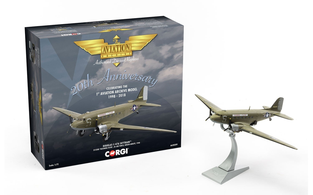 CORGI AA38209 Douglas C-47A Skytrain 315208  Fassberg Flyer  US AIR FORCE