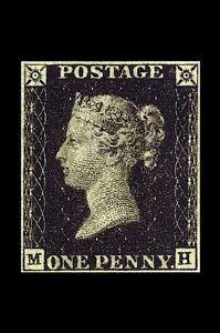 Framed-Print-Penny-Black-World-039-s-First-Stamp-1840-Valued-at-3-500-000-Art