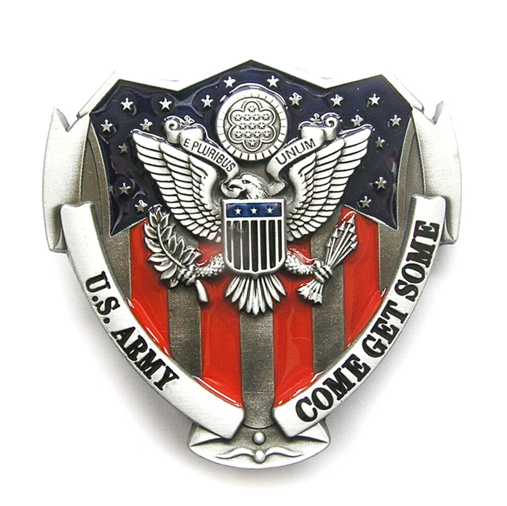 Come Get Some I Belt Buckle USA US Army Corps Officer Soldier United States
