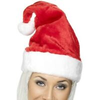 Velvet Santa Hat Unisex Mens Womens Size M/l Christmas Clause Miss Claus Adult