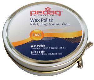 Pedag Wax Polish Lederfett Schuhcreme Schuh-Leder pflege Bienenwachs Neu