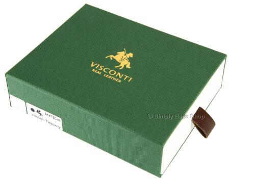 Visconti Da Uomo Veg Tan in Pelle Portafoglio Con RFID bloccando la protezione dalle frodi-tsc41
