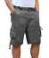 Bermuda-Uomo-Cargo-Pantalone-corto-Tasconi-Laterali-Shorts-Cotone-Nero-Verde miniatura 4