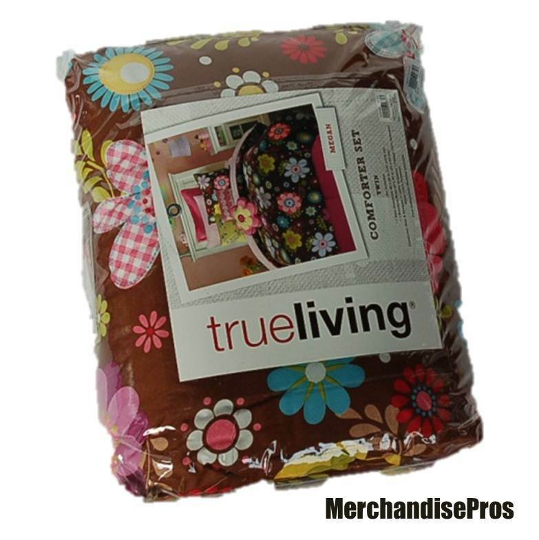 2 PC TRUE LIVING 'MEGAN' FLORAL COMFORTER SET TWIN  100% POLYESTER  NEW