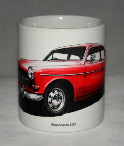 Volvo Amazon 122S hand drawn illustration. Classic Car Mug