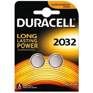 2x-CR2032-Lithium-Knopfzelle-3V-DL2032-DURACELL-1x-Doppelblister