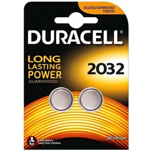 2x CR2032 Lithium Knopfzelle 3V DL2032 DURACELL 1x Doppelblister