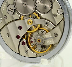 Vintage MOLNIJA MOLNIA Russian Slim Pocket Watch 1957's 15 Jewels