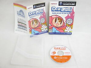 Mr-DRILLER-DRILL-LAND-GOOD-Condition-Nintendo-Game-Cube-For-JP-System-gc