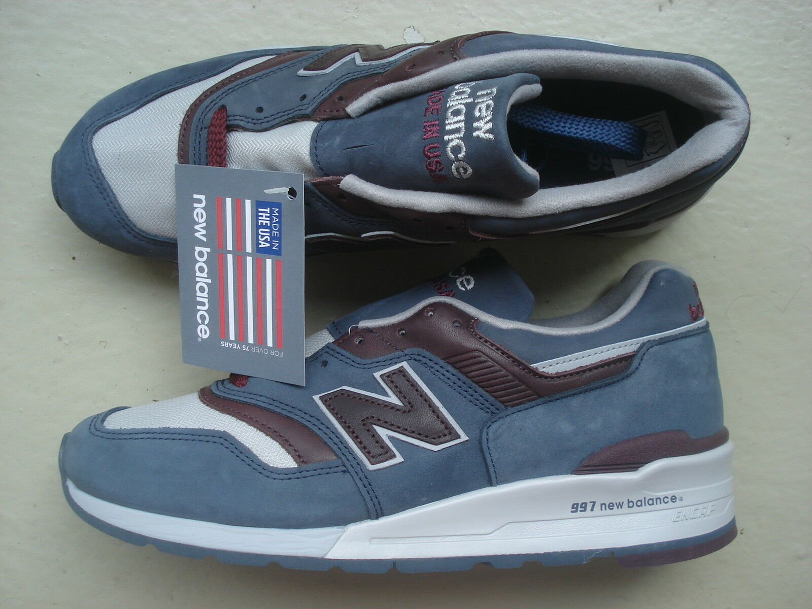 NEU Made Balance M997 DGM 45.5 Made NEU In USA Grau Steel/Burgundy Distinct Mid Century 228b7f