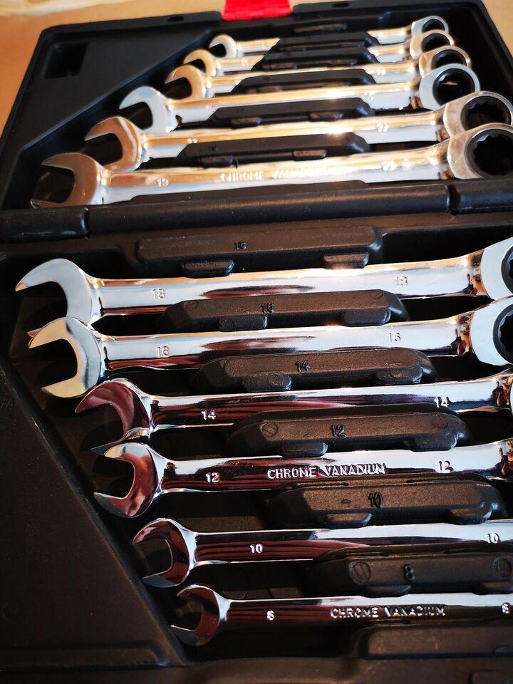Skraldenøgle Sæt - Nøgler fra 8mm til 19mm.
