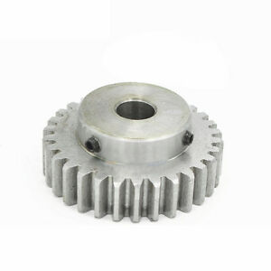 45# Steel Motor Spur Pinion Gear 1.5Mod 35T Outer Dia 55.5mm Bore 16mm x 1Pcs