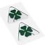miniatura 2 - Adesivi Alfa Romeo 3D Ufficiale Quadrifoglio Verde 2 Pezzi Dx + Sx