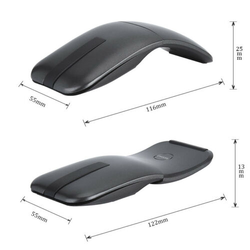 2.4G Folding Arc Touch With USB Receiver Wireless Mouse For PC Laptop