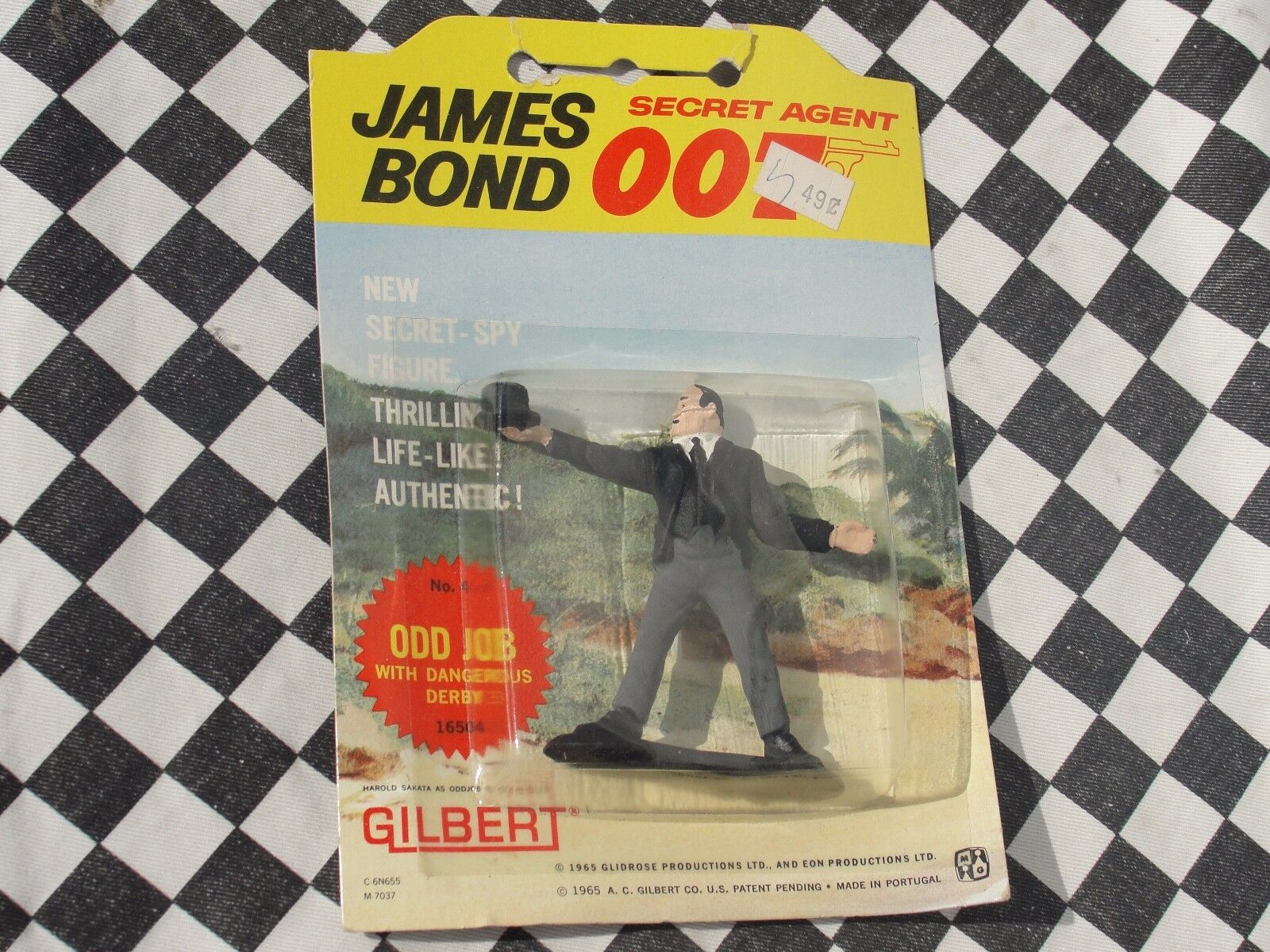 1960'S JAMES BOND SECRET AGENT 007 FIGURE  ODD JOB  16504  NEW OLD STOCK