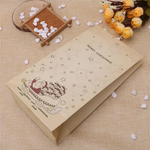 1 Pcs Kraft Paper Xmas Party Holiday Cookies Present Gift Bag Luxury Wedding Bag
