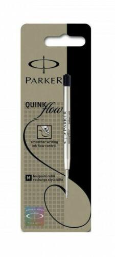 GENUINE PARKER BALLPOINT REFILL BIRO MEDIUM BLACK SMOOTH WRITING QUINK FLOW