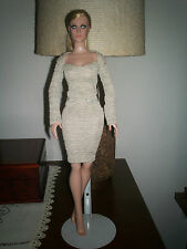 """Tonner 17"""" Dede Denton or 18"""" Kitty Collier - beige ruched outfit"""