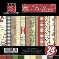 Bazzill Basics Believe 6x6 Paper Pad 24 Double-sided Sheets 4 Ea 6 Papers