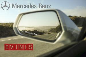 MERCEDES-BENZ-SILVER-SMALL-SYMBOL-MIRROR-DECALS-STICKERS-GRAPHICS-x3