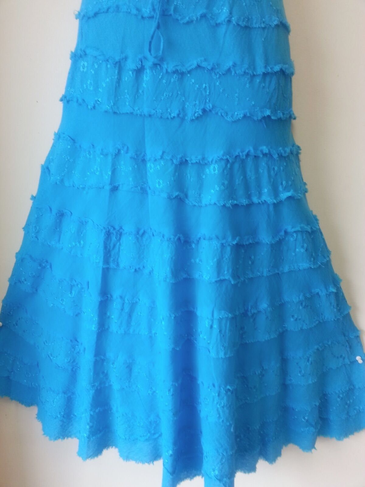 Women Clothing A-Line tiered eyelid TURQUOIS Skirt one size Fit  S M L 1XL 2XL