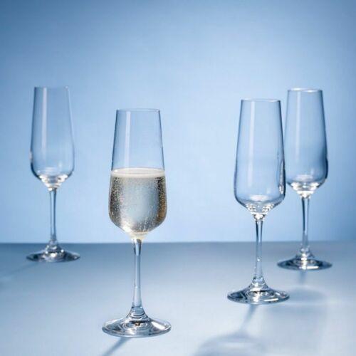 Ovid Flute Champagne Glass Single// Set of 2 or 4 Glassware Villeroy /& Boch