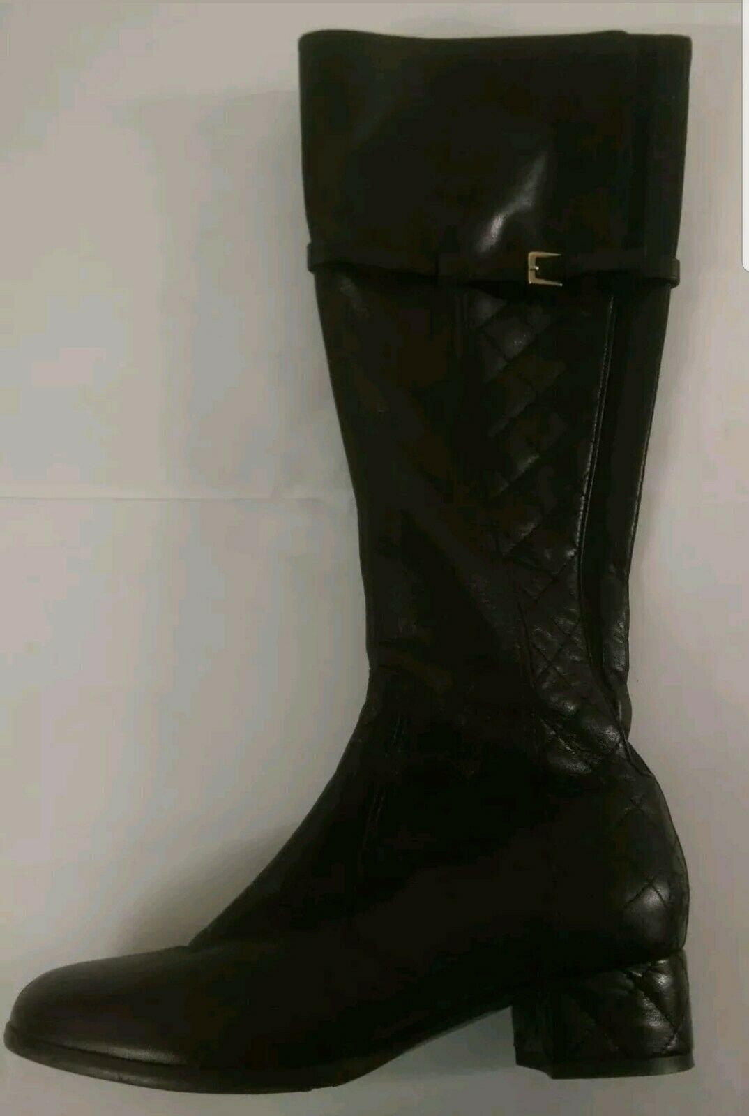 L.K Bennett women Napa Leather Knee High Quilted Boots Black Women's Size EU 36