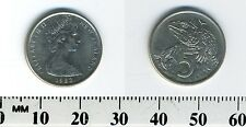 New Zealand 1982 - 5 Cents Copper-Nickel Coin - Queen Elizabeth II - Tuatara