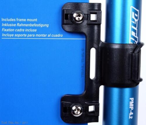 Park Tool PMP-4.2B Blue Mini Frame Mount Bicycle Pump Presta//Schrader 90psi 4.2