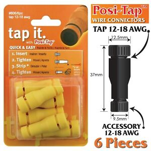 POSI-TAP-12-18-AWG-WIRE-CONNECTORS-REUSABLE-NO-CRIMPING-6-PK
