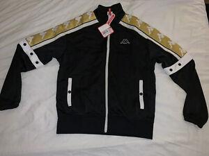 Black-And-Gold-Kappa-Jacket-Retro-Size-Medium