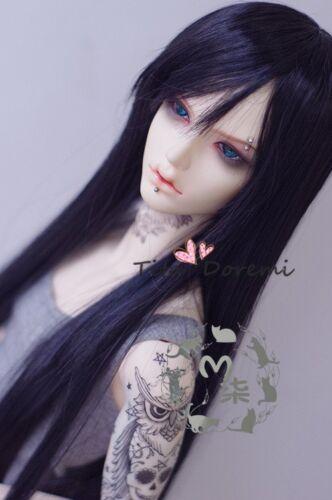 Bjd Doll Wig 1//3 8-9 Dal Pullip AOD DZ AE SD DOD LUTS Dollfie Black Toy Hair