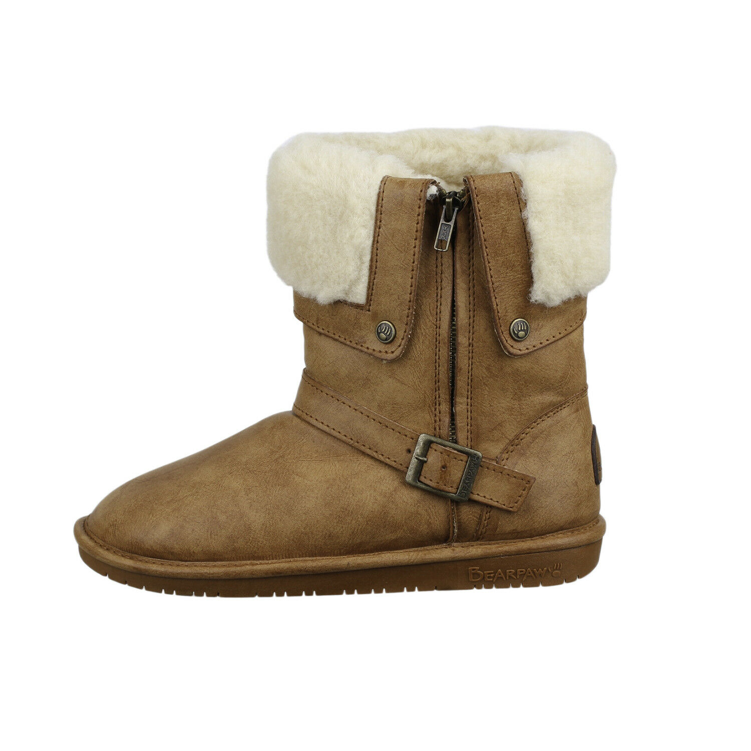 Bearpaw Women's Madison 1808W Snow Boots shoes Brown Sheepskin