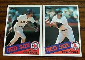1985-Topps-Set-Break-350-Wade-Boggs-and-580-Wight-Evans-Red-Sox