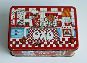 Vintage Collectable OXO Cube Tin Designed by Mark Canon 1990