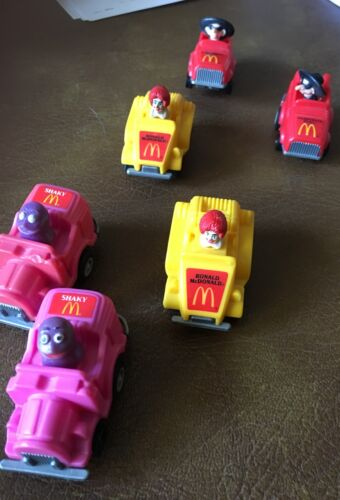 Vintage McDonald's Transformer Toys & German Cars from Happy Meals lot of 11