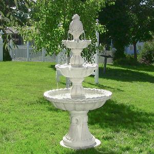 59 Welcome 3 Tier Outdoor Garden Electric Water Fountain 852026004360 Ebay