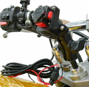 Allongé Fil Alimenté Moto 20.5-24.5mm Tige Support Pour Tigra Mountcase