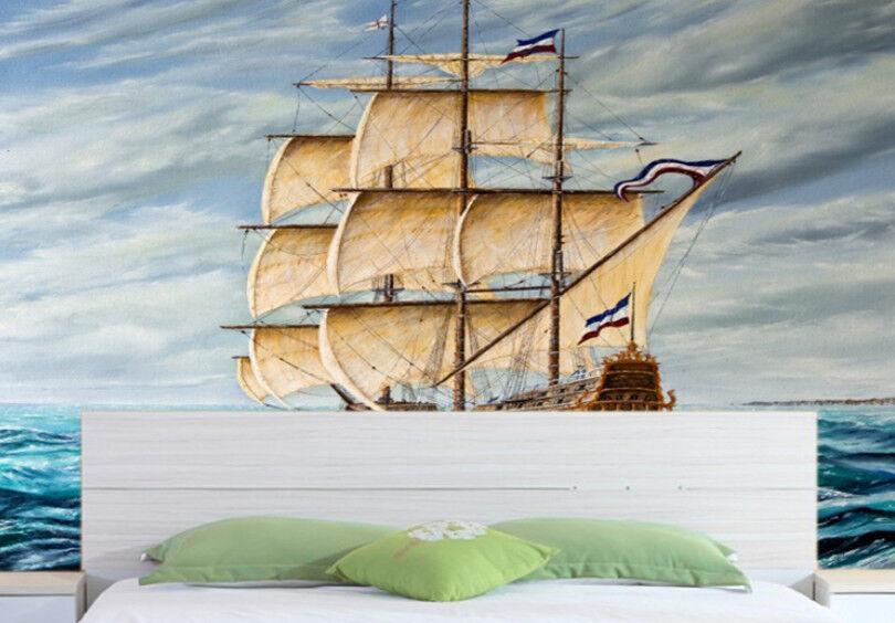 3D SegelStiefel Ozean 85 Tapete Wandgemälde Tapete Tapeten Bild Bild Bild Familie DE | Verkauf Online-Shop  9ecc4b
