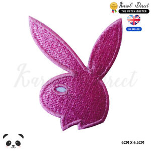Playboy-Bunny-Logo-Embroidered-Iron-On-Sew-On-Patch-Badge-For-Clothes-Bags-etc