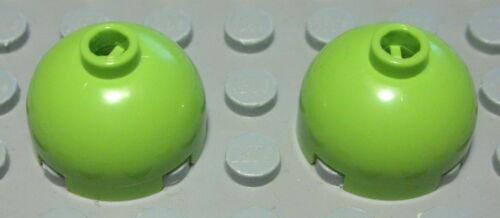 Lego Stein Kuppel rund 2x2x1 lime Hellgrün 2 Stück 1176